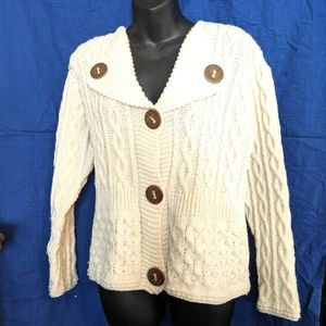 Carraig Donn Small Irish 100% Merino Wool Sweater